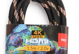 Kabel HDMI-HDMI Opticum RED 4K UHD – 1.5m (v2.0)