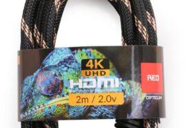 Kabel HDMI-HDMI Opticum RED 4K UHD – 2m (v2.0)