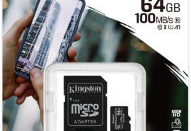 Karta pamięci Kingston Canvas Select Plus 64GB 100MB microSDXC CL10 UHS-I Card + SD Adapter