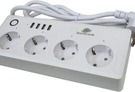 Listwa zasilająca Wi-fi z USB Spacetronik Smart Life SL-PS26 – BIAŁA