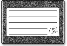 ACO CDN-5NACC GR listy lokatorów (ok. 5 wpisów) z wbudowanym czytnikiem breloków zbliżeniowych