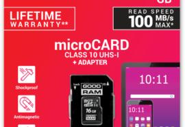 KARTA PAMIĘCI microSD GOODRAM UHS1 CL10 16GB + ADAPTER 100MB
